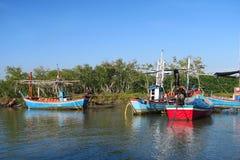 Algunos barcos de pesca tradicionales Foto de archivo libre de regalías