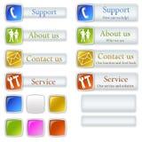 Algunos botones del Web stock de ilustración