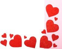 Algunos corazones rojos Imagen de archivo libre de regalías