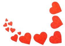 Algunos corazones rojos Imagenes de archivo