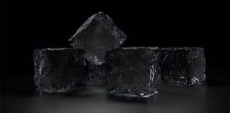 Algunos cubos de hielo Imagen de archivo libre de regalías