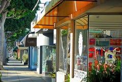 Algunos escaparates a lo largo de Robertson Blvd en Los Ángeles imagen de archivo libre de regalías