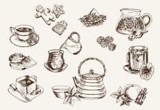 Algunos tipos de té Fotografía de archivo