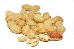 Alguns amendoins imagens de stock
