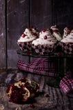 alguns bolos de chocolate Foto de Stock