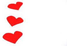 Alguns corações no Livro Branco Imagens de Stock Royalty Free