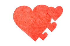 Alguns corações vermelhos imagens de stock