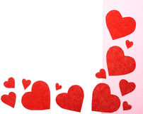 Alguns corações vermelhos imagem de stock royalty free
