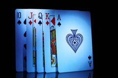Alguns de cartões de jogo, de dez ao ás Imagem de Stock Royalty Free