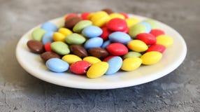 Alguns doces coloridos foto de stock