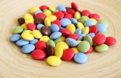 Alguns doces coloridos imagens de stock