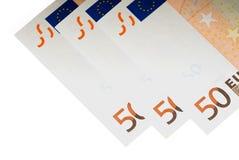 Alguns euro Fotos de Stock Royalty Free