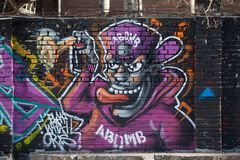 Alguns grafittis na rua Fotos de Stock Royalty Free