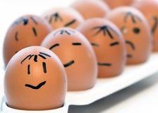 Alguns ovos Imagens de Stock