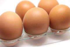 Alguns ovos crus fotografia de stock