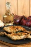 Alguns pilões de galinha orgânicos imagem de stock