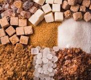 Alguns tipos de açúcar Imagem de Stock