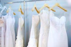 Alguns vestidos de casamento bonitos Imagem de Stock