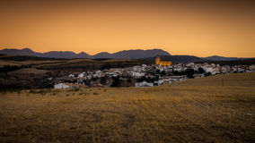 Alhama de Granada, Southern Spain at sunset Stock Images