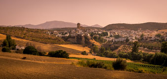 Alhama de Granada, Southern Spain at sunset Stock Photo