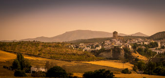 Alhama de Granada, Spagna del sud al tramonto Fotografia Stock