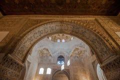 alhambra Γρανάδα εσωτερικό παλάτι Ισπανία Στοκ φωτογραφία με δικαίωμα ελεύθερης χρήσης