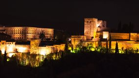 alhambra Γρανάδα Ισπανία απόθεμα βίντεο