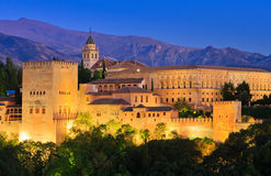 alhambra Γρανάδα παλάτι Ισπανία Στοκ Φωτογραφία