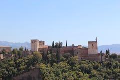 alhambra Γρανάδα όψη της Ισπανίας πανοράματος παλατιών Στοκ Εικόνες