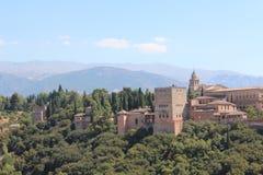 alhambra Γρανάδα όψη της Ισπανίας πανοράματος παλατιών Στοκ εικόνα με δικαίωμα ελεύθερης χρήσης