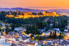 alhambra Γρανάδα Ισπανία Στοκ εικόνες με δικαίωμα ελεύθερης χρήσης