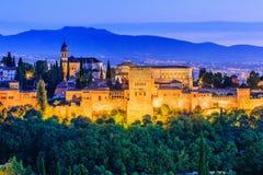 alhambra Γρανάδα Ισπανία Στοκ Φωτογραφία