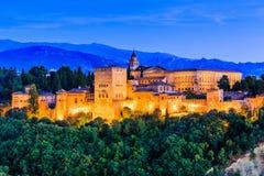 alhambra Γρανάδα Ισπανία Στοκ Εικόνες