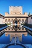 alhambra Γρανάδα παλάτι Στοκ Εικόνες