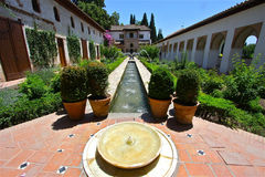 alhambra ηλιόλουστο Στοκ εικόνα με δικαίωμα ελεύθερης χρήσης