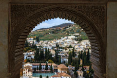 Alhambra και Albaizin Στοκ Εικόνες