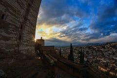 Alhambra και Albaizin Στοκ Φωτογραφίες