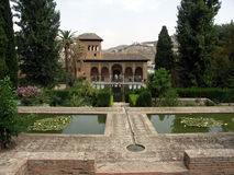 alhambra Λα κήπων partal Στοκ Εικόνα