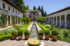 Alhambra παλάτι, Γρανάδα, Ισπανία Στοκ Εικόνα