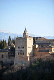 Alhambra παλάτι, Comares πύργος, Γρανάδα, Ισπανία Στοκ εικόνα με δικαίωμα ελεύθερης χρήσης