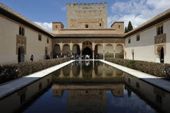 Alhambra, παλάτι Nasrid, Γρανάδα, Ισπανία Στοκ Εικόνες
