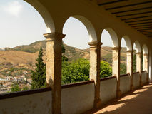 alhambra τόξα Στοκ εικόνα με δικαίωμα ελεύθερης χρήσης
