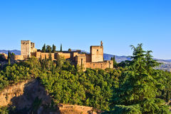 Alhambra. View on Alhambra at sunset, Granada, Spain Royalty Free Stock Photography