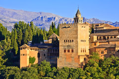Alhambra. View on Alhambra at sunset, Granada, Spain Stock Photography