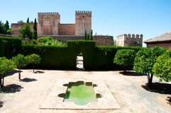 Alhambra. Ancient Alhambra palace, Granada, Spain Stock Photo