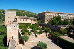 Alhambra. Ancient Alhambra palace, Granada, Spain Stock Photography