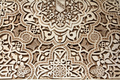 Alhambra. Castle, Nasrid palace detail. Granada in Andalusia region of Spain. UNESCO World Heritage Site Royalty Free Stock Photography