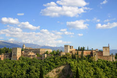 The Alhambra. At sunset, Granada Royalty Free Stock Images
