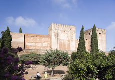 Alhambra Alcazaba Stock Photography