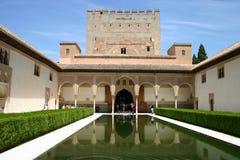 alhambra andalusia granada slott Royaltyfria Foton